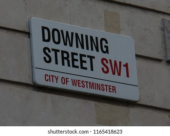 London, England - 09/11/2013: Downing Street - Home of the Prime Minister