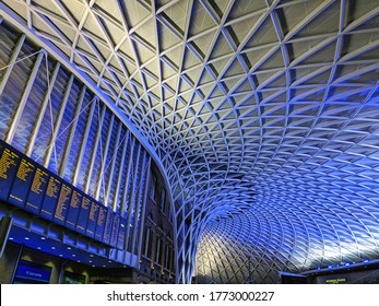 London, England - 12-09-2017: Taken very close to Platform 9 3/4 from the Harry Potter films at Kings Cross Train Station in London England.