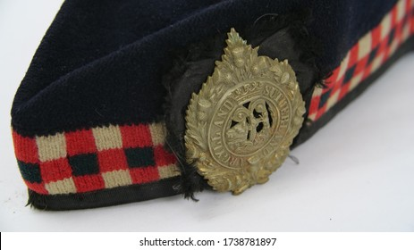 London, England - 20.05.20 - Wool WW2 Argyll and Sutherland Highlanders Glengarry cap with Argyll and Sutherland High regimental cap badge. This is an Other Ranks cap worn by British Army personnel