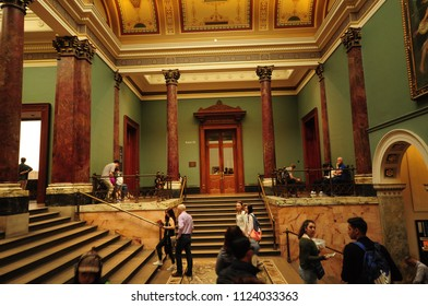 London, ENGLAND -21 June 2018- The National Gallery was established in 1753, and features a collection of over thirteen million objects.