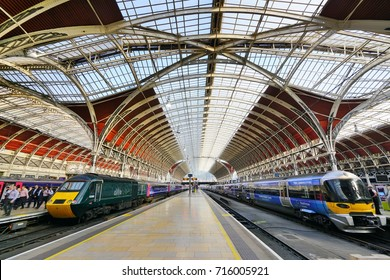 LONDON, ENGLAND -22 JUN 2017-  The London Paddington Station, a train and underground station in Central London, United Kingdom.