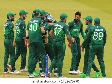 LONDON, ENGLAND. 23 JUNE 2019: The Pakistan v South Africa, ICC Cricket World Cup match, at Lords, London, England.