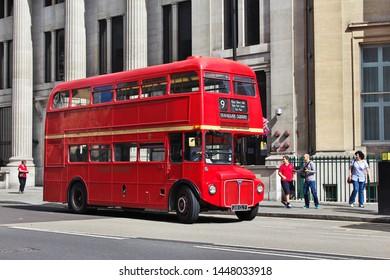 London / England - 28 Jul 2013: The bus in London city, England