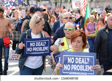 London, England 29th March 2019 Leave Means Leave pro Brexit march on the day the UK was due to leave the EU