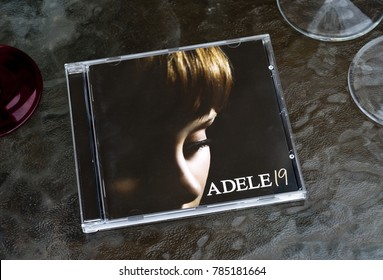 London, England - April 02, 2011: Debut Album 19 by British female singer Adele, First released in 2008