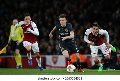 LONDON, ENGLAND - APRIL 05 2018: During the Europa League quarter final leg one match between Chelsea and CSKA Moscow at The Emirates Stadium.