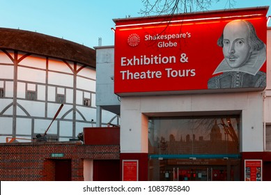London, England - April 11, 2008: The Shakespeare's Globe Theatre on the banks of the River thames opened in 1997 on the site of the original Globe theatre from 1599.