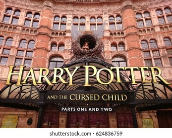 London, England - April 13, 2017:  Play of Harry Potter and the Cursed Child iin the Palace Theatre