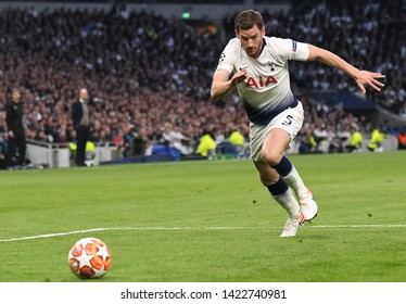 LONDON, ENGLAND - APRIL 30, 2019: Jan Vertonghen of Tottenham pictured during the first leg of the 2018/19 UEFA Champions League Semi-finals game between Tottenham Hotspur and Ajax.