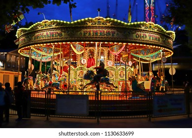 London, England - Aug 19 2017: merry-go-round in London