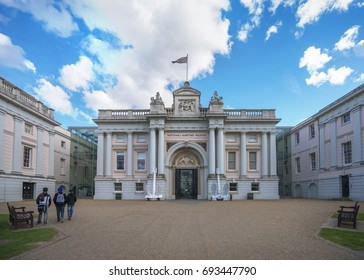 London, England Aug 9, 2017 : The National Maritime Museum (NMM) in Greenwich, London, is the leading maritime museum of the United Kingdom