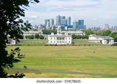 LONDON. ENGLAND - AUGUST 05, 2013: A view to Greenwich park and city center on summer day.