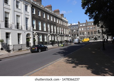 London, England, August 13th 2019: Bedford Square in Bloomsbury, London