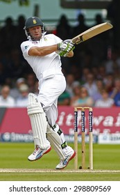 LONDON, ENGLAND. AUGUST 19 2012 South Africa's AB de Villiers batting during the third Investec cricket  test match between England and South Africa, at Lords Cricket Ground