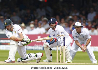 LONDON, ENGLAND. AUGUST 19 2012 South Africa's AB de Villiers during the third Investec cricket  test match between England and South Africa, at Lords Cricket Ground