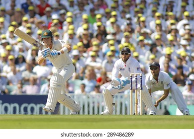 LONDON, ENGLAND - August 21 2013: Michael Clarke, Matt Prior and Jonathan Trott during day one of the 5th Investec Ashes cricket match between England and Australia