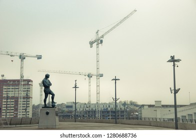 London, England, december 2010, wembley crane monument