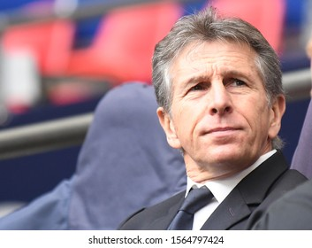LONDON, ENGLAND - FEBRUARY 10, 2019: Leicester manager Claude Jacques Puel pictured ahead of the 2018/19 Premier League game between Tottenham Hotspur and Leicester City at Wembley Stadium.