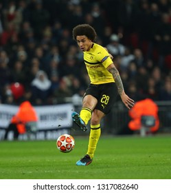 LONDON, ENGLAND - FEBRUARY 13 2019: Axel Witsel of Dortmund during the Champions League match between Tottenham Hotspur and Borussia Dortmund at Wembley Stadium, London.