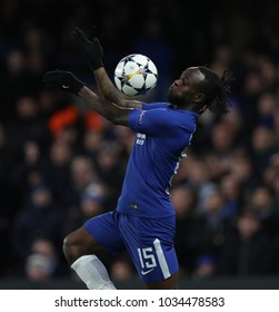 LONDON, ENGLAND - FEBRUARY 20:  Victor Moses of Chelsea during the Champions League Round of 16 First Leg match between Chelsea FC and FC Barcelona at Stamford Bridge on February 20, 2018