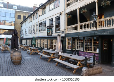 London, England, February 9th 2019: The George Inn in Southwark