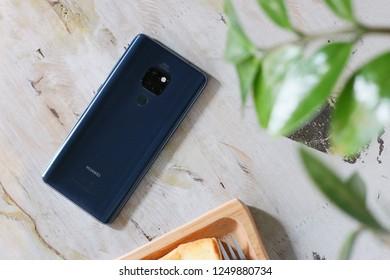 LONDON ENGLAND : HUAWEI launch new smartphone HUAWEI Mate 20 on October 16 ,2018 london ,england