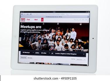 Meetup website
