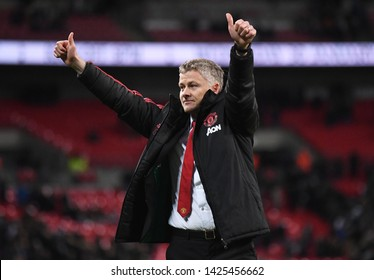 LONDON, ENGLAND - JANUARY 13, 2019: Manchester manager Ole Gunnar Solskjaer pictured after the 2018/19 Premier League game between Tottenham Hotspur and Manchester United at Wembley Stadium.