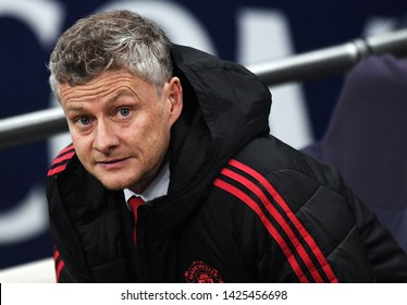 LONDON, ENGLAND - JANUARY 13, 2019: Manchester manager Ole Gunnar Solskjaer pictured prior to the 2018/19 Premier League game between Tottenham Hotspur and Manchester United at Wembley Stadium.