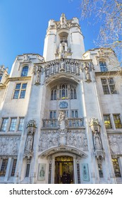 LONDON, ENGLAND - JANUARY 17, 2017 Supreme Court United Kingdom Middlesex Guildhall Westminster London England.  Guildhall became Supreme Court in 2005.