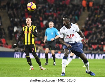 LONDON, ENGLAND - JANUARY 30, 2019: Davinson Sanchez of Tottenham pictured during the 2018/19 Premier League game between Tottenham Hotspur and Watford FC at Wembley Stadium.