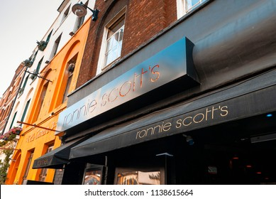 London, England - July 02, 2009: Ronnie Scotts Jazz Club, 47 Frith Street, Soho, London, Britain. First opened in 1965, This was the clubs second venue.