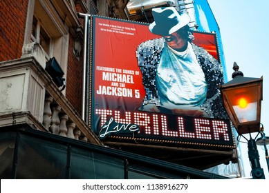 London, England - July 02, 2009: The Lyric Theatre in Shaftsbury avenue where 'Thriller Live' concert is performed in London's west end.