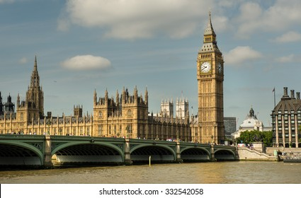LONDON, ENGLAND - JULY 12: Big Ben on July 12, 2015 in London.