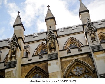 London / England - July 13 2016: Architectural Details of Westminster Abbey