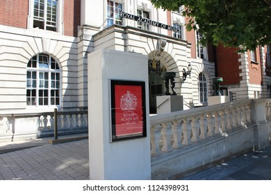 London, England, July 1st 2018:  Royal Academy of Music in Marylebone Road, London