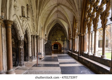 LONDON, ENGLAND - JULY 20, 2016: Westminster Abbey (Collegiate Church of St Peter at Westminster), UNESCO World Heritage Site