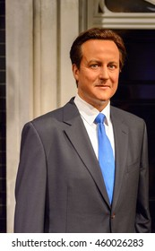 LONDON, ENGLAND - JULY 22, 2016: Cameron, Madame Tussauds wax museum. It is a major tourist attraction in London