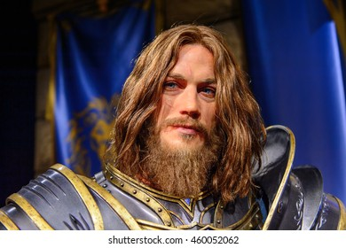 LONDON, ENGLAND - JULY 22, 2016: Warcraft section at the Madame Tussauds wax museum. It is a major tourist attraction in London