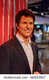 LONDON, ENGLAND - JULY 22, 2016: Tom Cruise, American actor, Madame Tussauds wax museum. It is a major tourist attraction in London