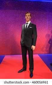 LONDON, ENGLAND - JULY 22, 2016: Benedict Timothy Carlton Cumberbatch, English actor, Madame Tussauds wax museum. It is a major tourist attraction in London