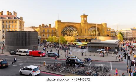 LONDON, ENGLAND - JULY 22, 2016: King's Cross railway station, a major London railway terminus opened in 1852