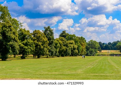 LONDON, ENGLAND - JULY 23, 2016: Nature of the Hyde Park, one of the largest parks in London, and one of the Royal Parks of London.