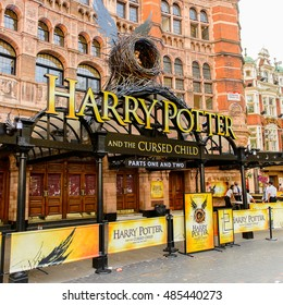 LONDON, ENGLAND -  JULY 24, 2016: Harry Potter and the Cursed Child, a play at the Palace Theatre, London