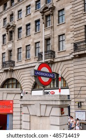 LONDON, ENGLAND - JULY 24, 2016: Underground station Baker Street in London, England. London is the capital and the most populous city in England