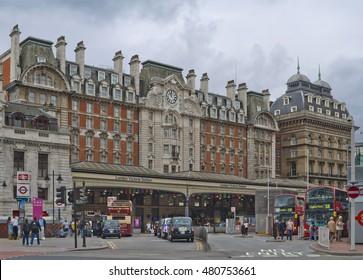 LONDON, ENGLAND - JULY 27, 2012: London Victoria Station