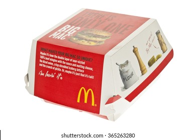 London, England - June 09, 2011: McDonald's Big Mac Hamburger, McDonald's is a fast food restaurant chain.