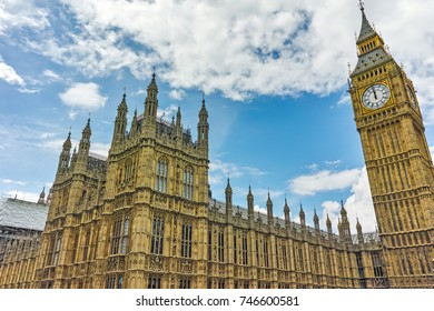 LONDON, ENGLAND - JUNE 15, 2016:  Houses of Parliament, Westminster Palace, London, England, Great Britain