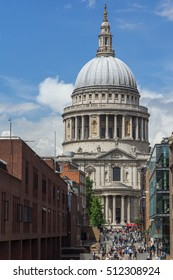 LONDON, ENGLAND - JUNE 15 2016:St. Paul Cathedral in London, Great Britain