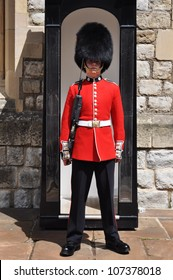 LONDON, ENGLAND - JUNE 17: Queen's Guard or Queen's Life Guard at the Tower of London on June 17, 2012 in London, England